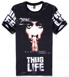 tshirt America Hip hop t-shirt men's 3d tshirt print Tupac 2pac THUG LIFE t shirt casual tops Young tees H11