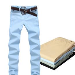 Wholesale-4 Color Size 28-36 Cotton Mens pants Classic joggers Men Casual Pants men's clothing Black Khaki pants Trousers Summer