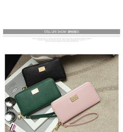 Wholesale Fashion designer clutch purses woman new zipper cellphone wallet cross pattern big card holder girls purse colors for option Z M0880