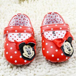 Baby first walkers shoes baby sport shoes cotton shoes cartoon minnie shoes color red size 11-13cm 2016 kids shoes children shoes.2588