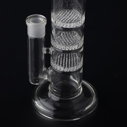 Wholesale Crazzzy Price mm Tube Clear Honey Comb Perc Disk Water Pipe Glass Bong With Free Charge Matching Dry Bowl BestGlass S01