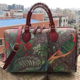 Wholesale Flower color printing bag shopping bag the original leather production leather handbags leather purses handbags