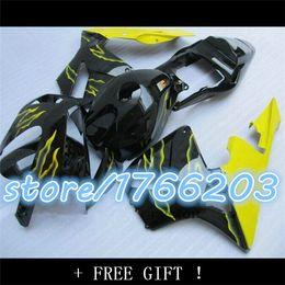 yellow flame in black body fairing kits CBR 600 F5 fairings kit CBR 600 RR 2003 2004 CBR600 RR 03 04
