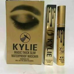 Wholesale New Kylie Magic Thick Slim Waterproof makeup mascara volume express false eyelashes make up waterproof cosmetics eyes Kylie Black Mascara