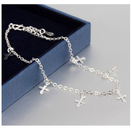 Cross pendant foot chain bracelet for girls fashion cross pendants anklet for women cheap Christmas gifts wholesale