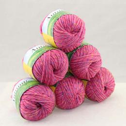 LOT of 6 BallsX50g Chunky Hand-woven Coarse Knitting Yarn Rose Pink 248-S41