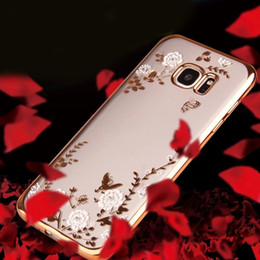 Elegant Design Cell Phone Cases Transparent TPU Phone Covers with Flowers for Samsung S6 S7 Note 3 24