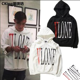 Wholesale VLONE hedging autumn and winter tide brand men s long sleeved cashmere sweater coat couple English letters printed sweater coat