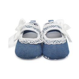 Wholesale Fashion Cowboy Lace Bowknot Princess Baby Shoes First Walkers Fashion Shoes For Years Factory Price Baby Shoes