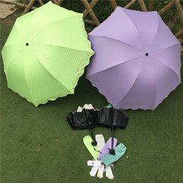 Wholesale high quality four folding umbrellas sunny and rainy umbrella easy to carry colorful folding umbrella parasol beach umbrella for