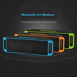 2017 boîte de haut-parleur de radio SC208 Portable Haut-parleur sans fil Bluetooth 4.0 Subwoofer Haut-parleurs extérieurs Double Bass Sound Box support de carte TF / USB / FM boîte de haut-parleur de radio autorisation