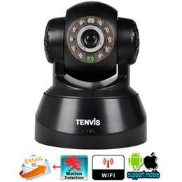 Wholesale Tenvis JPT3815W Wifi Wireless Baby Monitor IP Camera Security P T Phone Remote View Camera P2P network IOS Android Application