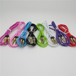 Wholesale AUX mm Stereo Auxiliary Car Audio Cable Male to Male for iPhone Samsung Galaxy S5 PDA ipad MP3 MP4