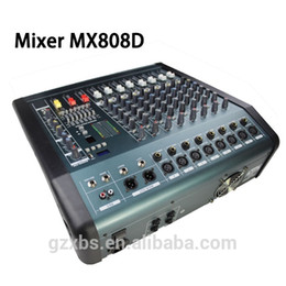 Wholesale Audio Mixer PMX808D Console with USB Built in effect processor Audio Mixer channel mixer sound console v power supply