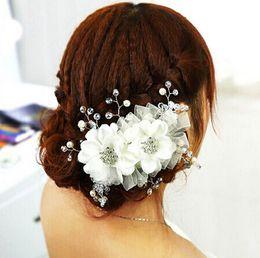 Wholesale The bride wedding tire headdress flower Korean wedding dress accessories Studio twist hair accessories number th98005