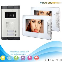 Wholesale Hot sale slim style inch screen and intercom system for1v2 multi apartment