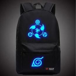 Naruto Luminous Rucksacks Hokage School Travel laptop Bag for Teenagers Japanese Anime Canvas Backpack Bolsas