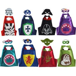 Wholesale Double Side capes star wars capes mask set customize logo Darth vader Yoda stormtrooper Ape man capes and masks free DHL BK039