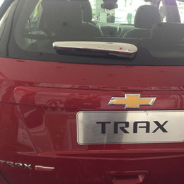 For 2014 2015 Chevy Trax ABS Chrome Rear Tail Wiper Cover Rear Window Wiper Cover Trim TRAX Car Styling Accessories
