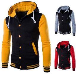 Wholesale Wholesales colors Premium Varsity College Letterman Baseball Jacket Uniform Jersey Hoodie Hoody with cap M L XL XXL