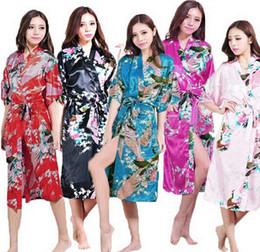new 12Colors Sexy Chinese Women long Silk Rayon Robe Wedding Bridesmaid Sleepwear V-Neck Kimono Bath Gown Mujer Pajama Plus Size S-3XL