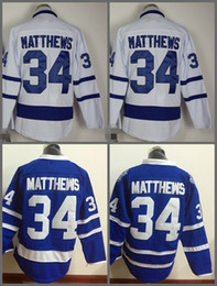 Top Quality ! 2016 New Men Toronto Maple Leafs Ice Hockey Jerseys Cheap #34 Auston Matthews blue white Jersey Authentic Stitched Jerseys