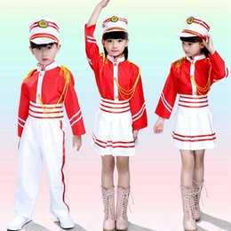 Wholesale Kids Dancewear Hornor Guard Clothes Boys Girls Festival Performing Costume Drum Team Clothes for Children School Band Uniforms UD0014