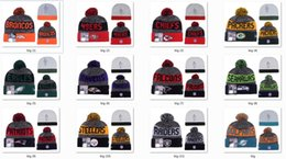 Wholesale New Beanies Heather Gray Sideline Sport Knit Hat Football Pom Knit Hats Sports Cap Beanies Hat Mix Match Order All Caps Top Quality Hat
