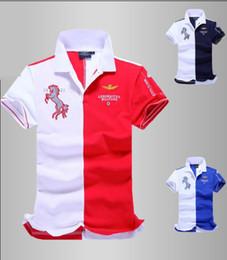 Wholesale Summer horse logo brand mens solid polo eronautica militare Air Force One shirt men brand bomber Short sleeve Polo shirts
