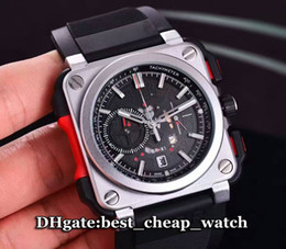Wholesale Super Clone Luxury Brand New BR AVIATION BR X1 Skeleton BR X1 CE TI RED Gents Watch Quartz Chronograph Men s Watch Rubber Strap Mens Watches