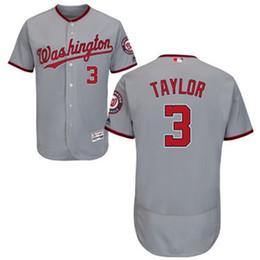 Washington Nationals Taylor Taylor Men's Game Cool Base Baseball Jersey - Gray