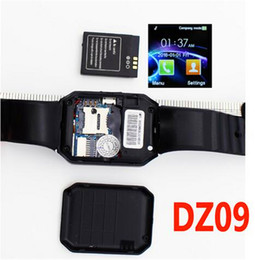Wholesale 2016 DZ09 Smart wrist watch inch Colourful LCD Screen PM Camera SMS GSM For IOS Android system smartwatch iPhone Samsung pk gt08