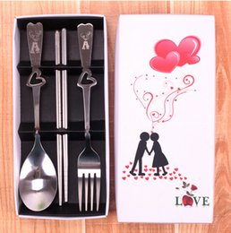 Wholesale High Quality Wedding Favors Chopsticks fork and spoon sets