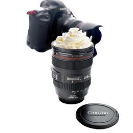 Wholesale ABS Plastic Coffee Cup Best Gift Lens Lid Camera Lens ml Mug as Canon Coffee Milk Tea Water Colors