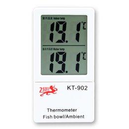 Wholesale Ambient Fish Bowl Aquarium Tank Thermometer Indoor LCD Dual Digital Display