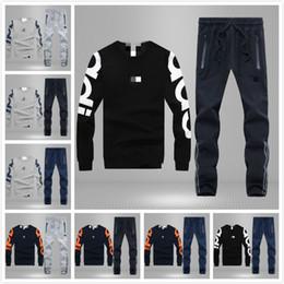 Wholesale Fashion Original Brand logo Casual sportswear Men Sweatpants Spring Autumn Long sleeved Sweater Sports suit large size M XL