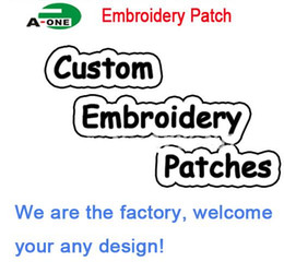 Free shipping Custom Computer Embroidery Patch any design any size made in China Wholesales