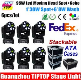 Wholesale Flight Case in1 Packing DMX CH Mini Led Moving Head Wash Spot in1 Zoom Light W Gobo W RGBW IN1 Wash American DJ