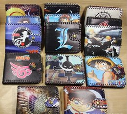 Wholesale new buckles folded his wallet Animated cartoon students wallet Black the thief Wang Huoying Manual graffiti wallet