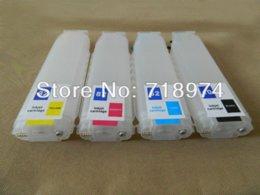 Wholesale Frete grátis Cartucho de tinta em massa cores conjunto para HP para HP designjet designjet
