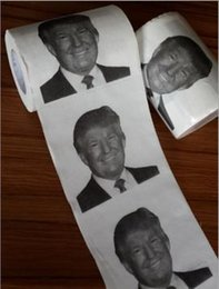 Wholesale New Dollars Tissue Paper Personalized toilet paper Factory outlets Future President Donald Trump Creative printing reel toilet paper