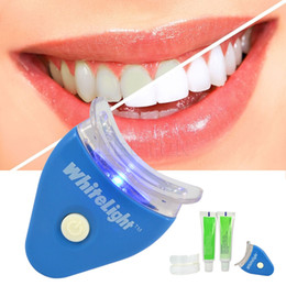 Wholesale Set NEW Hot White LED Light Teeth Whitening Tooth Gel Whitener Health Oral Care Toothpaste Kit for Personal Dental Treatment