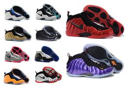 Wholesale 2016 cheap Hardaways Pro men Penny Hardaways Man Shoes black Green Red White Original Air Foampos One Shoes Men Basketball Sneakers boots