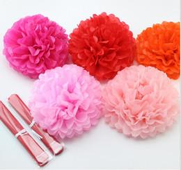 Wholesale 15 off cm cm Artificial flowers pompon Tissue paper pom poms Flower Kissing Balls Home Decoration Festive Wedding decoration