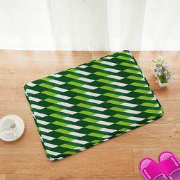 Wholesale Flannel Microfiber Bathroom Shower Accent Rug Non slip Soft Absorbent Bathroom Kitchen Floor Mat Carpet cm more color