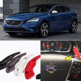Wholesale 2pcs Brand New Alloy Add On Steering Wheel DSG Paddle Shifters Extension For Volvo V40