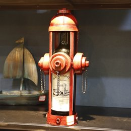 1 PC Mini Model Wine Rack for Single Bottle Iron model Fire Extinguisher model Saxophone type Red Wine Rack HG set