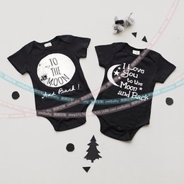 Wholesale New Newborn Clothes Baby Boys Rompers Costumes Lovely Child Letters Printed Jumpsuit One piece Romper I love you to the moon and back