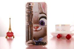 Wholesale For Iphone Plus S S Zootopia Movie Soft TPU Case D Cartoon Dot Clear Anti skid Cute Judy Hopps Rabbit Shockproof skin Fashion