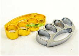 Wholesale Knuckle duster belt buckle F S THICK CHROMED KIRSITE BRASS KNUCKLES DUSTERS Boxing Protective Gear DHL FEDEX Fast shipping